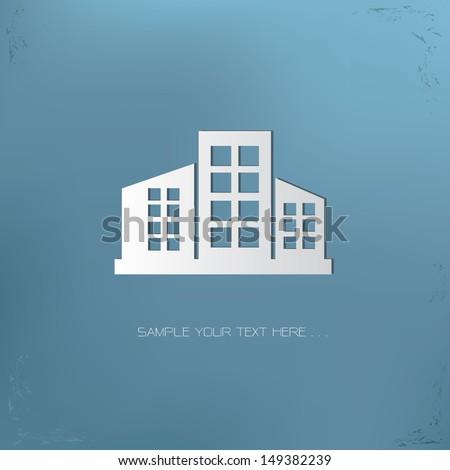 Building symbol,vector
