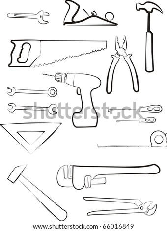 building tools isolated set