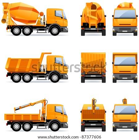 building trucks   in vector