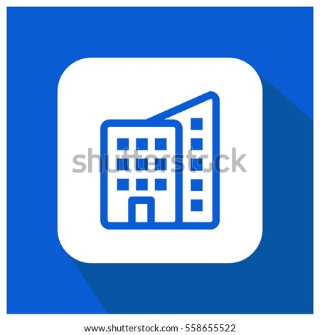 Building vector icon, apartment symbol. Modern, simple flat vector illustration for web site or mobile app