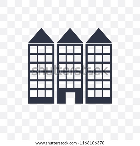 Building vector icon isolated on transparent background, Building logo concept