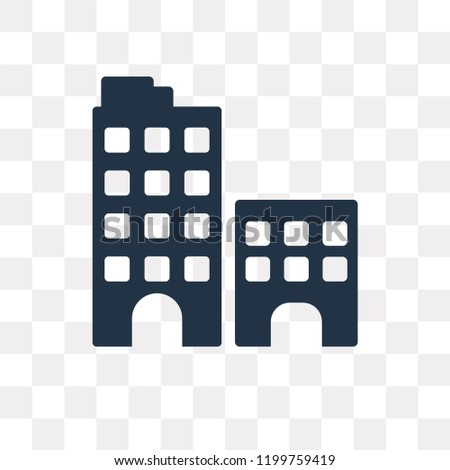 Building vector icon isolated on transparent background, Building transparency concept can be used web and mobile