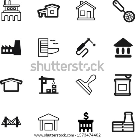 building vector icon set such as: bcaa, exterior, hotel, tourism, finance, whey, welding, manufacture, vacation, health, filling, break, classic, lift, gym, energy, university, sports, icons