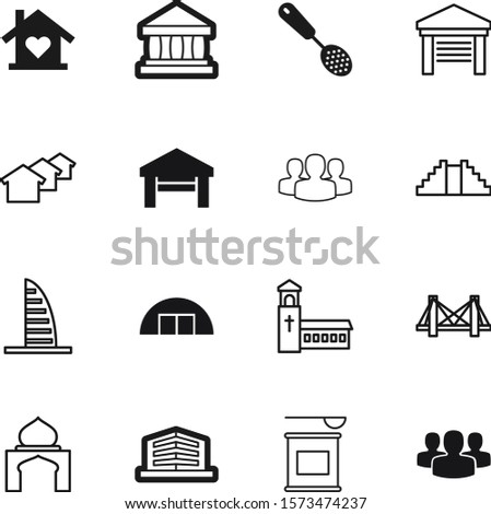 building vector icon set such as: bcaa, money, pyramid, weight, heart, gym, square, three, government, mayan, classical, whey, linear, spirituality, protein, red, investment, nutrition, cooking