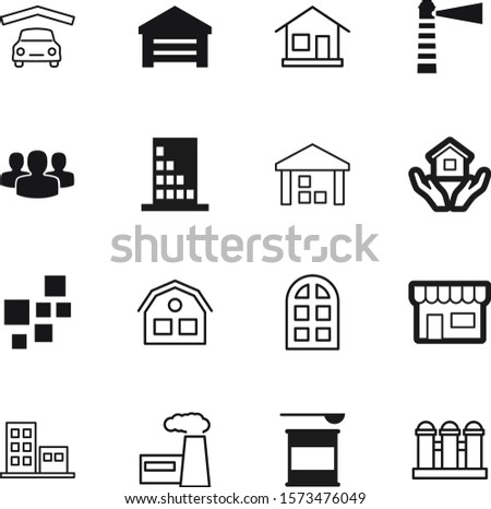building vector icon set such as: child, room, sell, fitness, jar, gainer, care, internet, retail, oil, beam, holding, style, metal, boutique, whey, young, smoke, nautical, user, security, package
