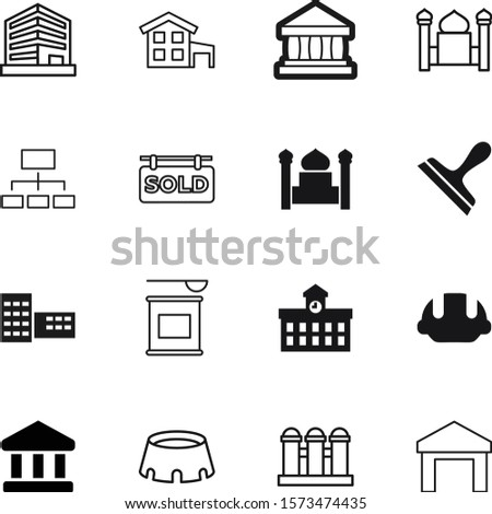 building vector icon set such as: hardhat, hand, protein, institution, nutrition, drawing, jar, supplement, nutritional, tournament, gym, whey, out, shipment, apartment, sale, soccer, station, grain
