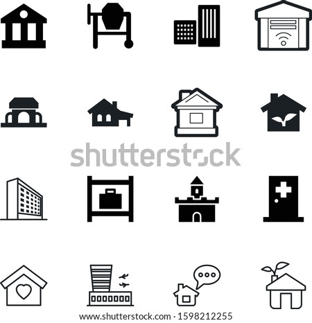 building vector icon set such
