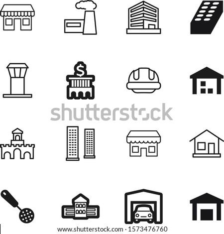 building vector icon set such