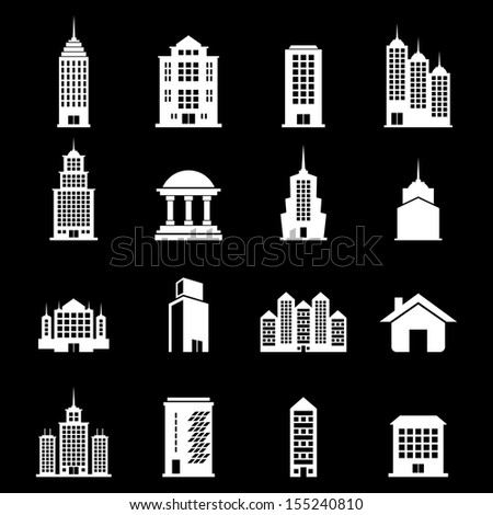 Building Vector set - White