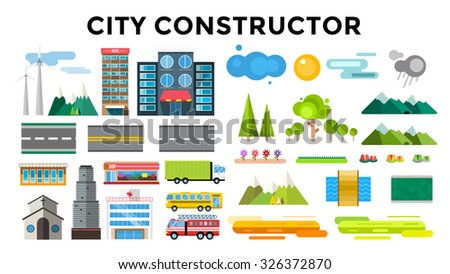 buildings and city transport