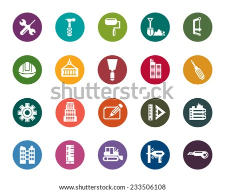 Buildings and Construction Color Icons