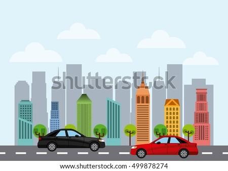buildings cityscape skyline icon vector illustration design