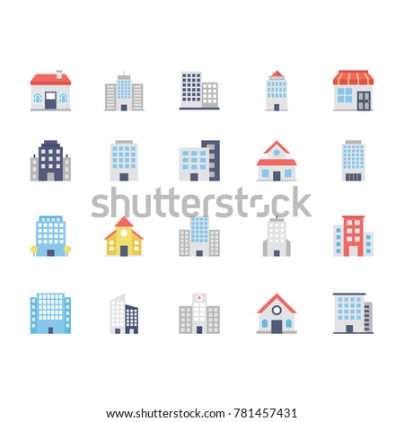 Buildings Colored Icons 2