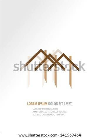 Buildings design vector background