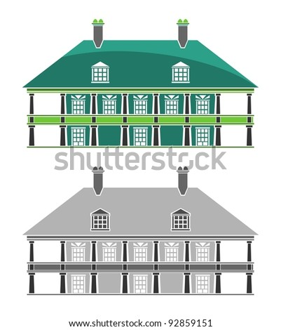 Buildings - French Colonial House