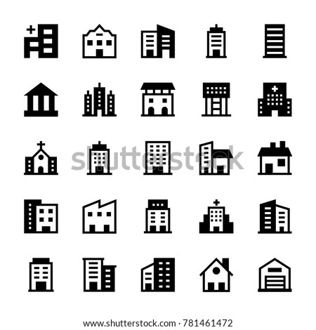 Buildings Glyph Icons 2