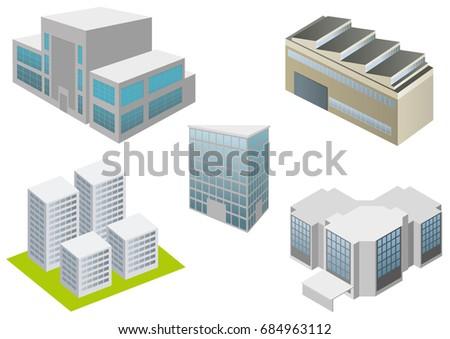 Buildings icon 3D