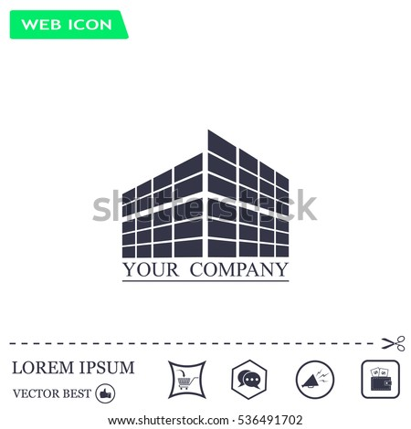 Buildings icon for company