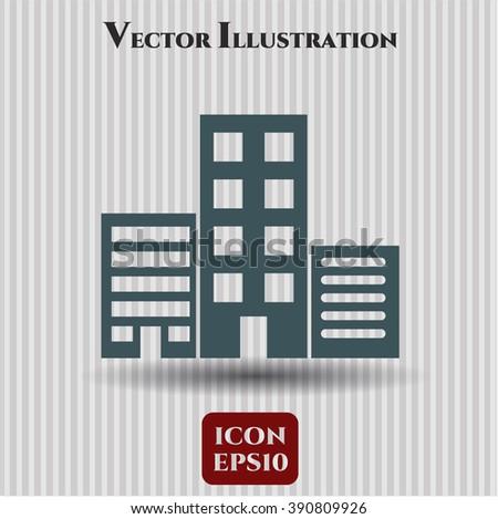 Buildings icon or symbol