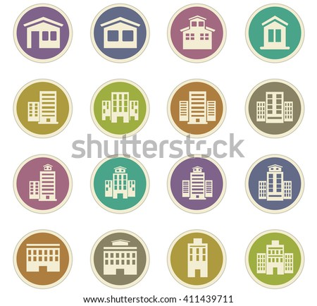 Buildings  icon set for web sites and user interface