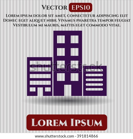 Buildings icon vector illustration
