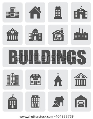 BUILDINGS icons set