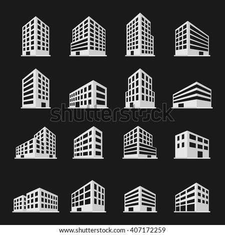 stock-vector-buildings-icons-set-vector-illustration