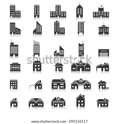 Buildings icons,Vector EPS10.