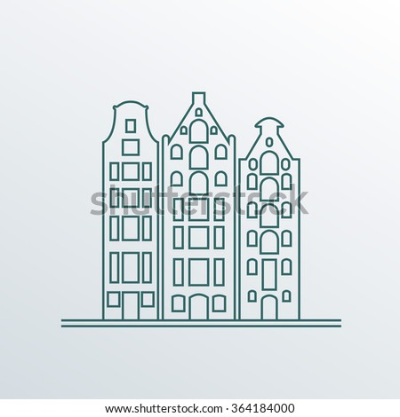 buildings in old european style