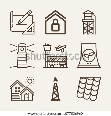 buildings outline vector icon