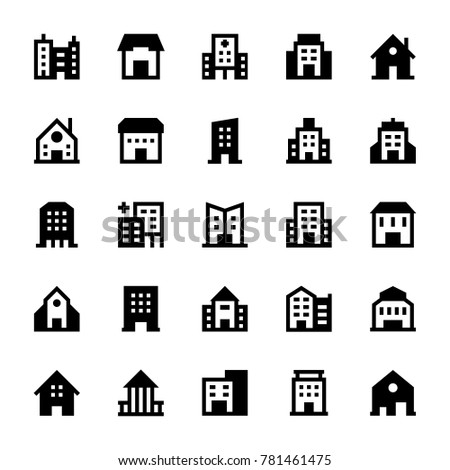 Buildings Solid Icons 3