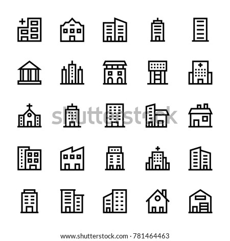 Buildings Stoke Icons 2