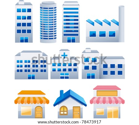 Buildings vector collection
