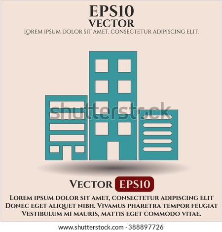 Buildings vector icon