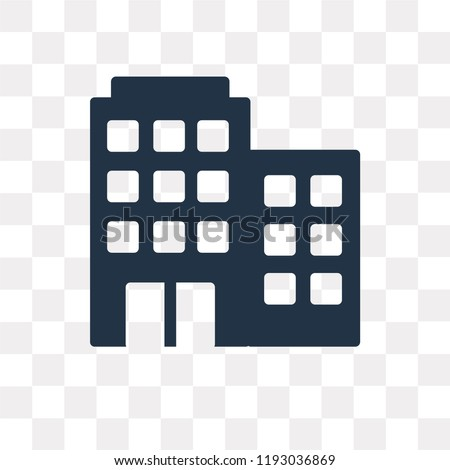 Buildings vector icon isolated on transparent background, Buildings transparency concept can be used web and mobile