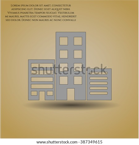 buildings vector icon or symbol