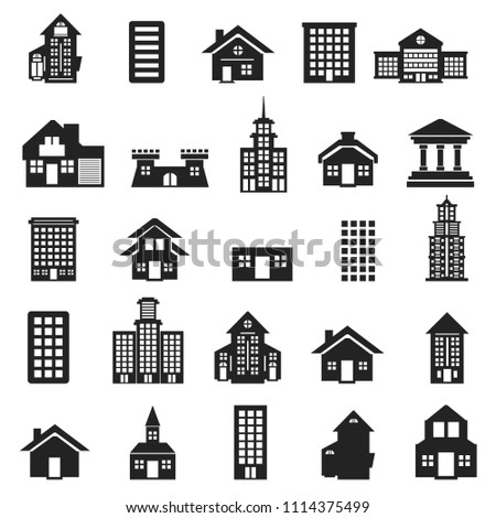 Buildings vector icons