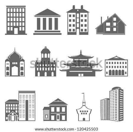 Buildings. Vector set