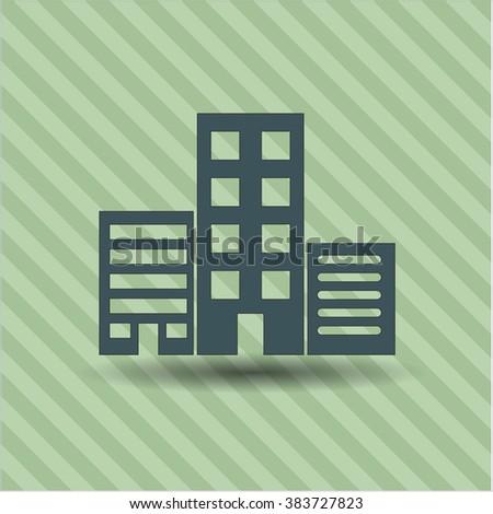 Buildings vector symbol