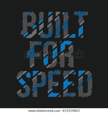 built for speed message...