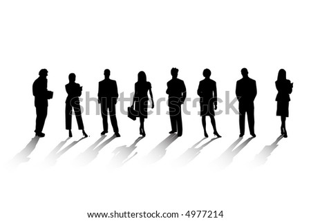 Buisness People Silhouettes (Vector)