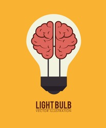 Bulb design over yellow background, vector illustration