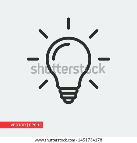 Bulb flat icon on white background, vector illustration