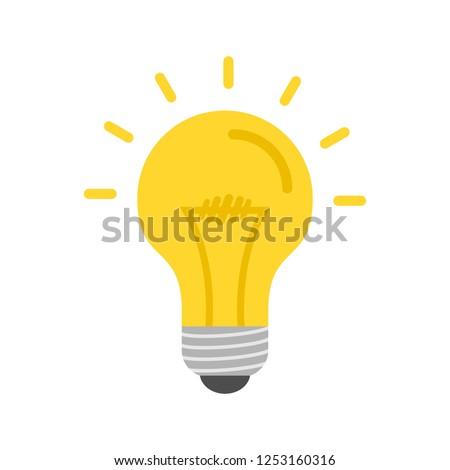 Bulb Flat multi color icon