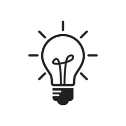 bulb icon glyph style design