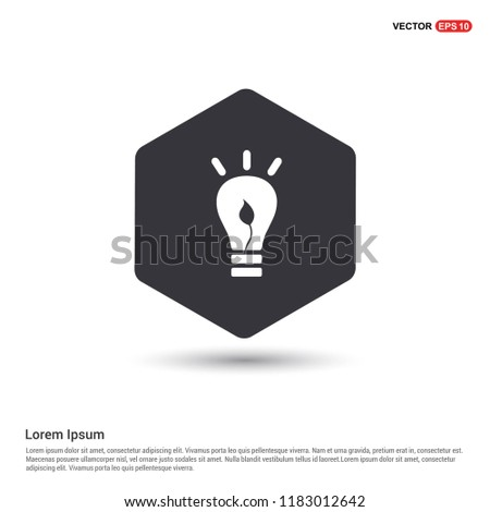 bulb icon Hexa White Background icon template - Free vector icon