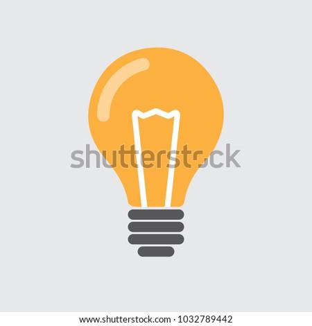 Bulb icon. Idea icon