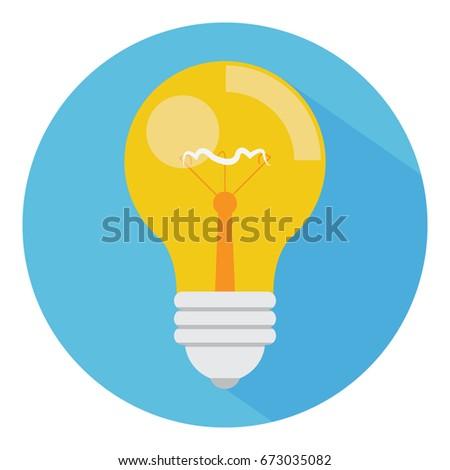 Bulb icon. Idea icon.
