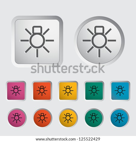 Bulb icon. Vector illustration.