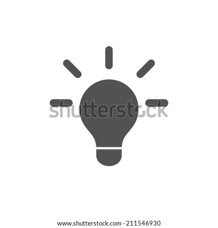 bulb icon,vector illustration